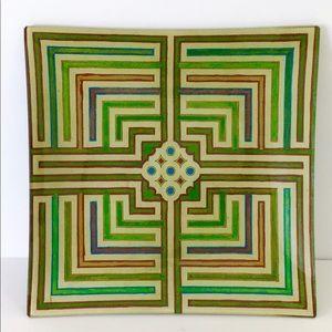 John Derian RARE Square Maze NEW Glass Tray + Tags